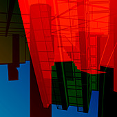 Abstract architectural shapes, illustration