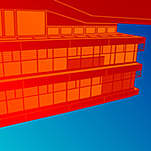 Building, abstract illustration