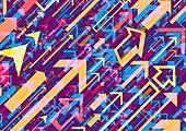 Multicoloured arrows, illustration