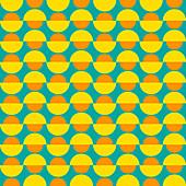 Pattern of semi-circles, illustration