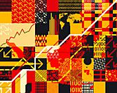 Abstract finance pattern, illustration