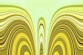Abstract wavy line pattern, illustration