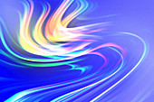 Abstract swirling wave pattern, illustration