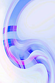 Abstract curve pattern, illustration