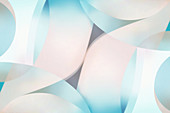Abstract pattern of shapes, illustration