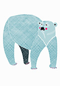 Polar bear, illustration