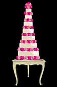 Tiered wedding cake, illustration