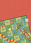 Game of snakes and ladders, illustration
