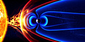 Earth's magnetic field, illustration