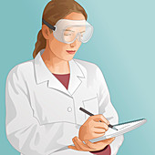 Science laboratory technician, illustration