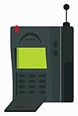 Retro mobile phone, illustration
