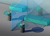 Smart speakers, conceptual illustration