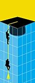 Higher education, conceptual illustration