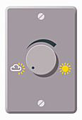 Thermostat dial, illustration