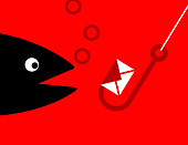 Phishing email, conceptual illustration