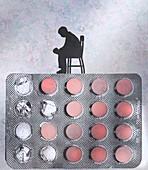 Treatment for depression, illustration