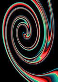 Abstract spiral pattern, illustration