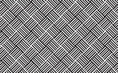 Abstract monochrome woven grid pattern, illustration