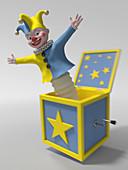 Jack in the box, illustration