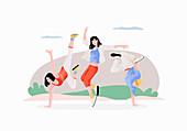 Breakdancing, illustration