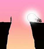 Idea gap, conceptual illustration