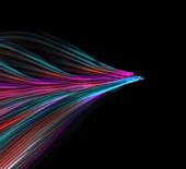 Fibre optics, illustration