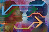 Digital connections, conceptual illustration