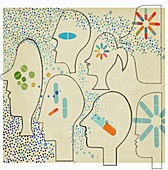 Personalised medicine, conceptual illustration