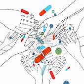 Addiction, conceptual illustration