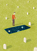 Grief, conceptual illustration