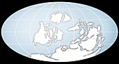 Continents during the Silurian, illustration