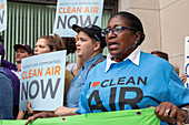 Oil refinery pollution protest, Detroit, USA