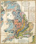 First geological map of Britain, 1824 edition