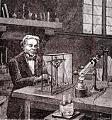 Faraday's electrolysis experiment, 1833