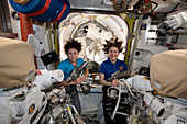 NASA astronauts Meir and Koch on the ISS