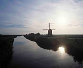 Windmill and waterway