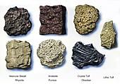 Volcanic rocks, illustration