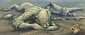 Pompeii victims, illustration