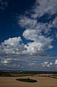 Cumulus and stratocumulus clouds over Berkshire