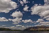 Cumulus humilis clouds over Derwent Water