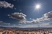 Cumulus humilis clouds over Granada