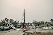 California wildfire aftermath, August 2018