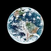 Atlantic hurricanes in September 2019, satellite image