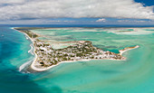 Kiritimati, Line Islands, aerial photograph