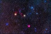 Clusters and nebulas of Gemini