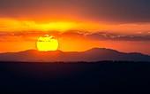 Sunset over Debre Berhan, Ethiopia