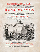 Title page of Bernoulli's 'Hydrodynamica' (1738)