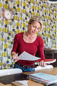 Woman with administrative papers