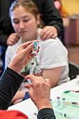 Paediatric immunisation clinic, Colorado, USA