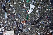 Plastic pollution in River Thames, London, UK